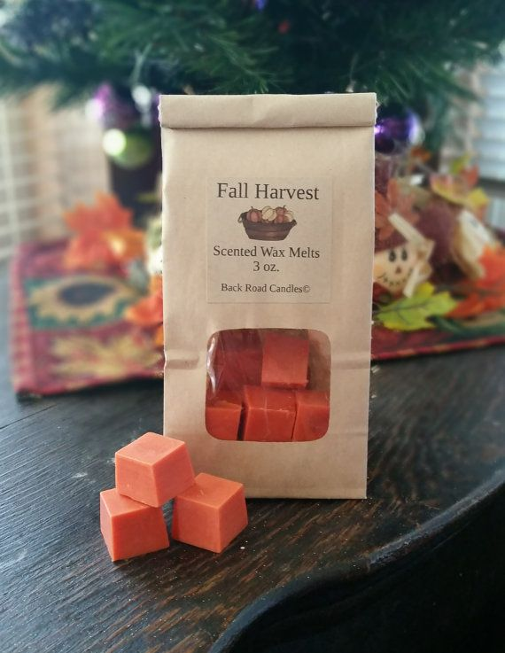 Fall Harvest scented Wax Melts // Wax Melt Cubes