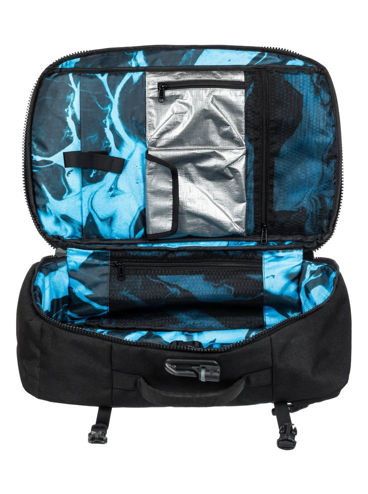 quiksilver, Pacsafe X QS 40L Anti-Theft Carry-On Backpack, BLACK (kvj0)