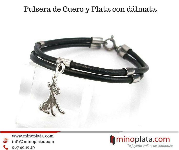 ¡¡Recomendamos!! Pulsera de Piel con Plata y dálmata colgante. Entrega en 24 horas. Su precio: 34,95 € Más detalles: https://www.minoplata.com/pulseras/estilo-charms-plata/pulseras-plata-estilo-charms/pulsera-de-cuero-con-dalmata-en-plata-de-ley  #bracele #bracelets #bracelet #armcandy #armswag #wristgame #pretty #love #fashion #jewelry #fashionlovers #fashionista #accessories #armparty #wristwear #minoplata #plata #mujer #women #pulseras #pulsera #silver #dalmata #perro #mascota