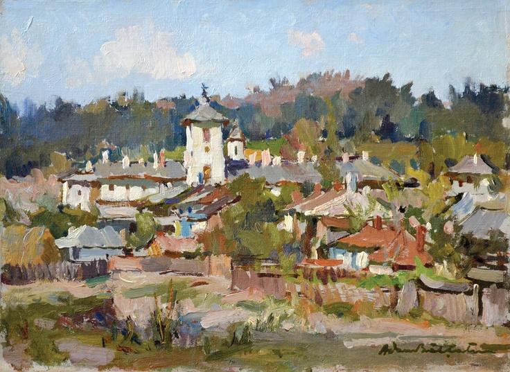 Adam Bălțatu - Mânăstirea Agapia    Lucrarea face parte dintr-o serie de 6 picturi, confiscate în perioada comunistă și recuperate recent de la Muzeul Municipiului București.