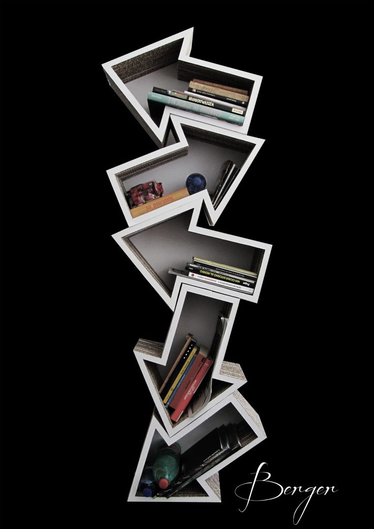 BERGER Design ● Salone del Mobile 2012, Arrow Book case, really cool