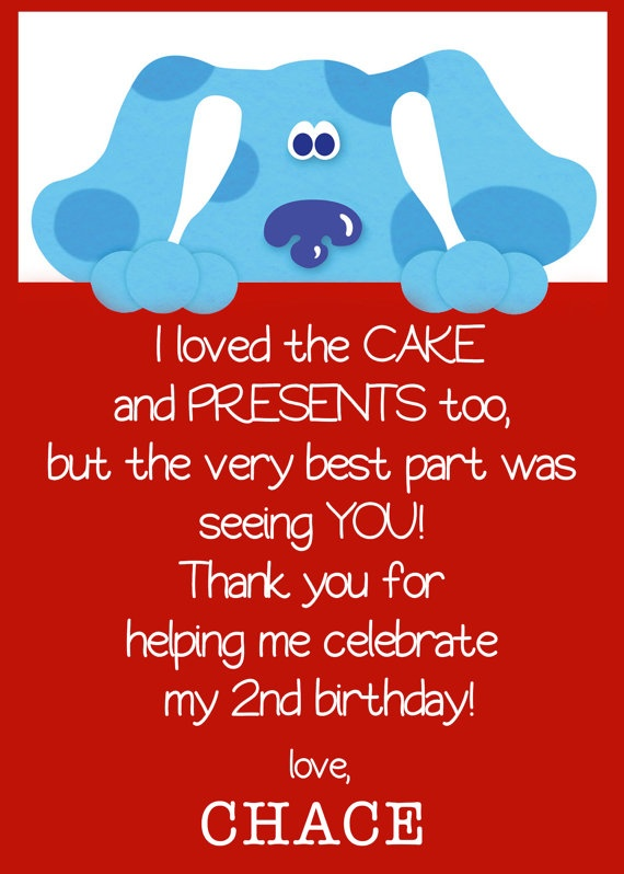 185 best Blues clues party images – Blues Clues Birthday Card