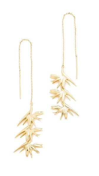 Noir Jewelry Linear Drop Earrings