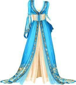 Hermoso diseño para traje de danza con pandero