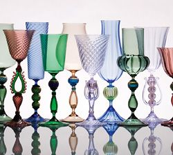 Gorgeous goblets. Again, we have SOME blue glass in here...