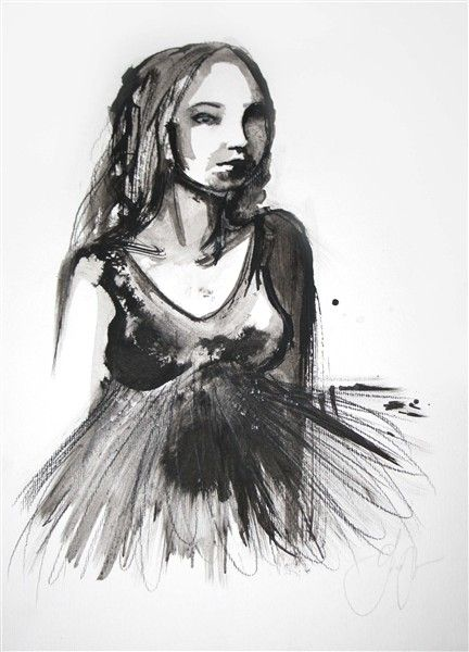 Illustration art, ink, by Jacqueline Tamm