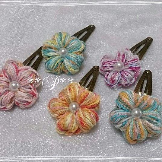 パッチンピン    #crochet  #hairaccessory  #crochethairaccessories