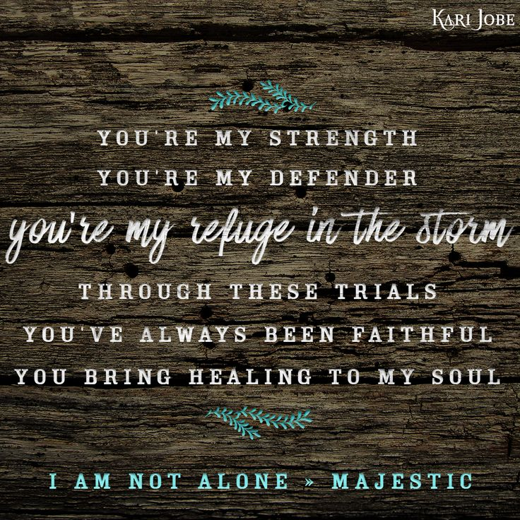 Kari Jobe - I Am Not Alone https://itunes.apple.com/us/album/i-am-not-alone-radio-version/id980765227