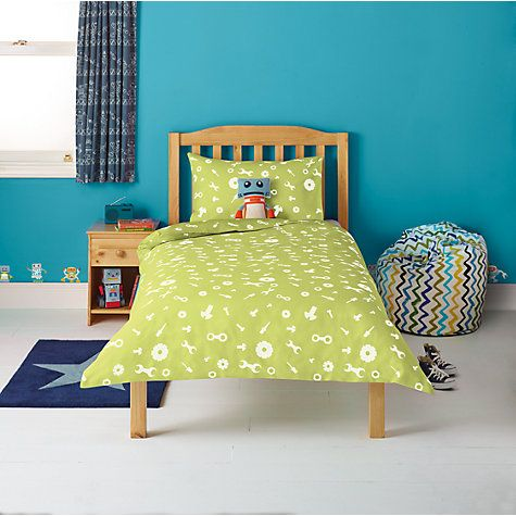 Little Home At John Lewis Robotica Nuts And Bolts Single Duvet Cover Pillowcase Set