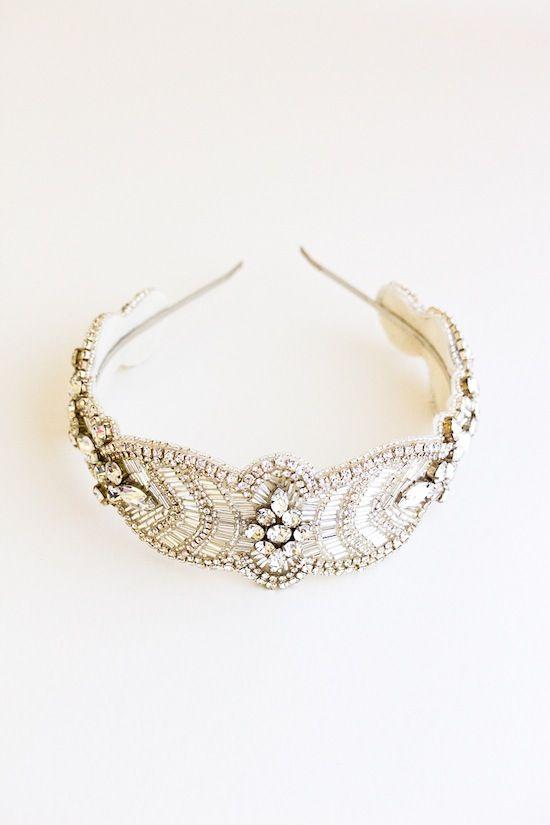 CAMILLE crystal beaded bridal headband