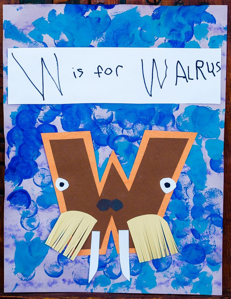 W is for Walrus. My favorite of the set :)