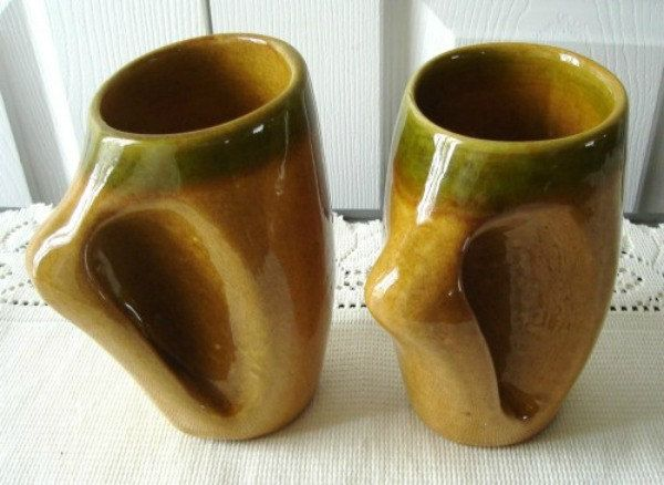 Vintage Set 2 Pottery Mugs Laurentian Art Pottery by LoukiesWorld on Etsy