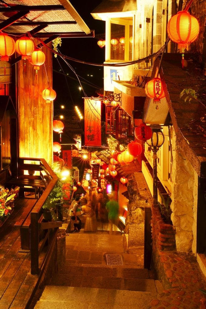 Jiufen, Taiwan. I was here during the day (too crowded). Looks much nicer (and atmospheric!) at night!