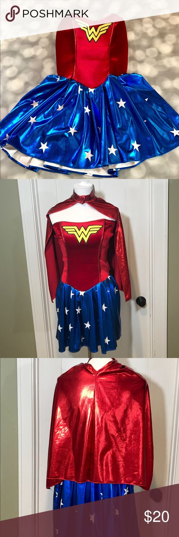 Wonder Woman costume and cape Kill it this Halloween in this fun little number Dresses