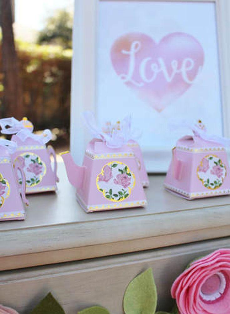 Tea Time Whimsy Teapot Favor Boxes Set of 24 bridal Shower Tea Party Favors