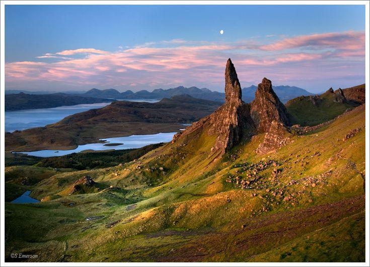 Totternish Ridge on the Isle of Skye, Scotland. Beautiful and atmospheric.