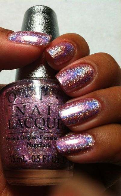 OPI Designer Series Divine...I have this and LOVE IT. There is nothing wrong with hot pink nail polish with rainbow sparkle.