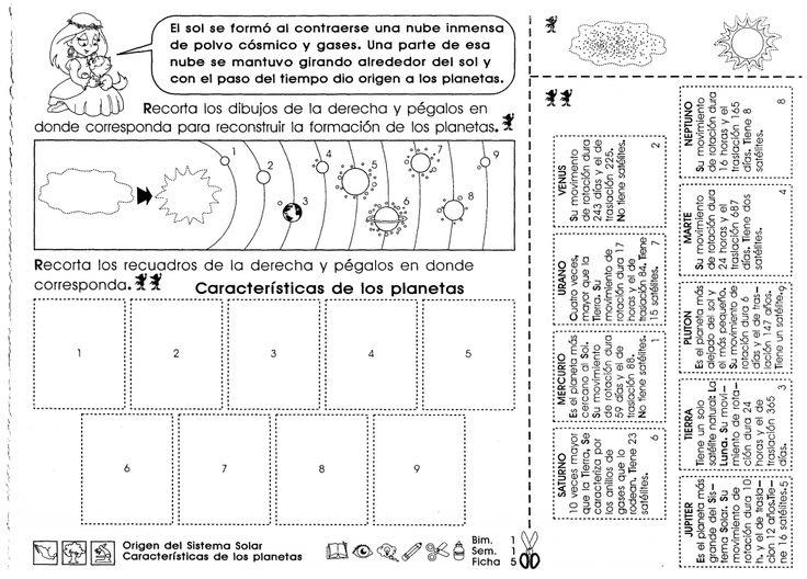 """Origen del sistema solar, características de los planetas """"5to grado"""""""