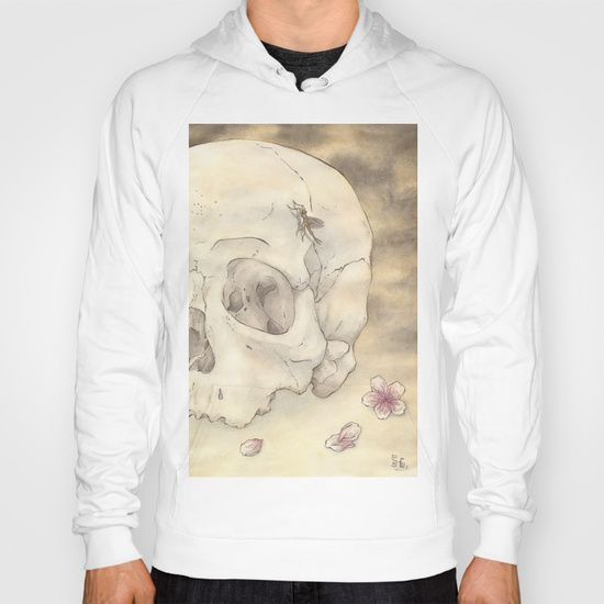 Ephemeral by Samy-Consu, HOODY/ UNISEX ZIP TRI BLACK BACK PRINT SMALL with different colors @society6 #society6