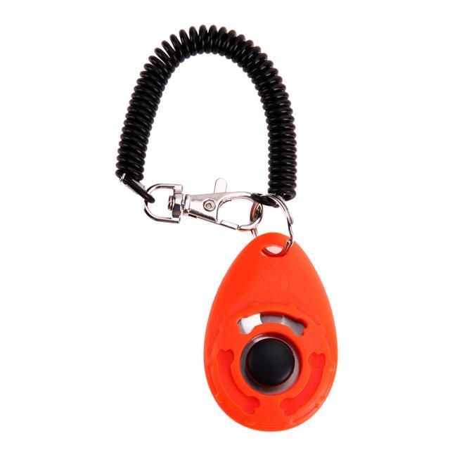 1/5PCS Pet Dog Training Clicker Ergonomic Pet Trainer Adjustable Sound Key Chain Dog Clicker for Teddy Dog Sound Training Tool