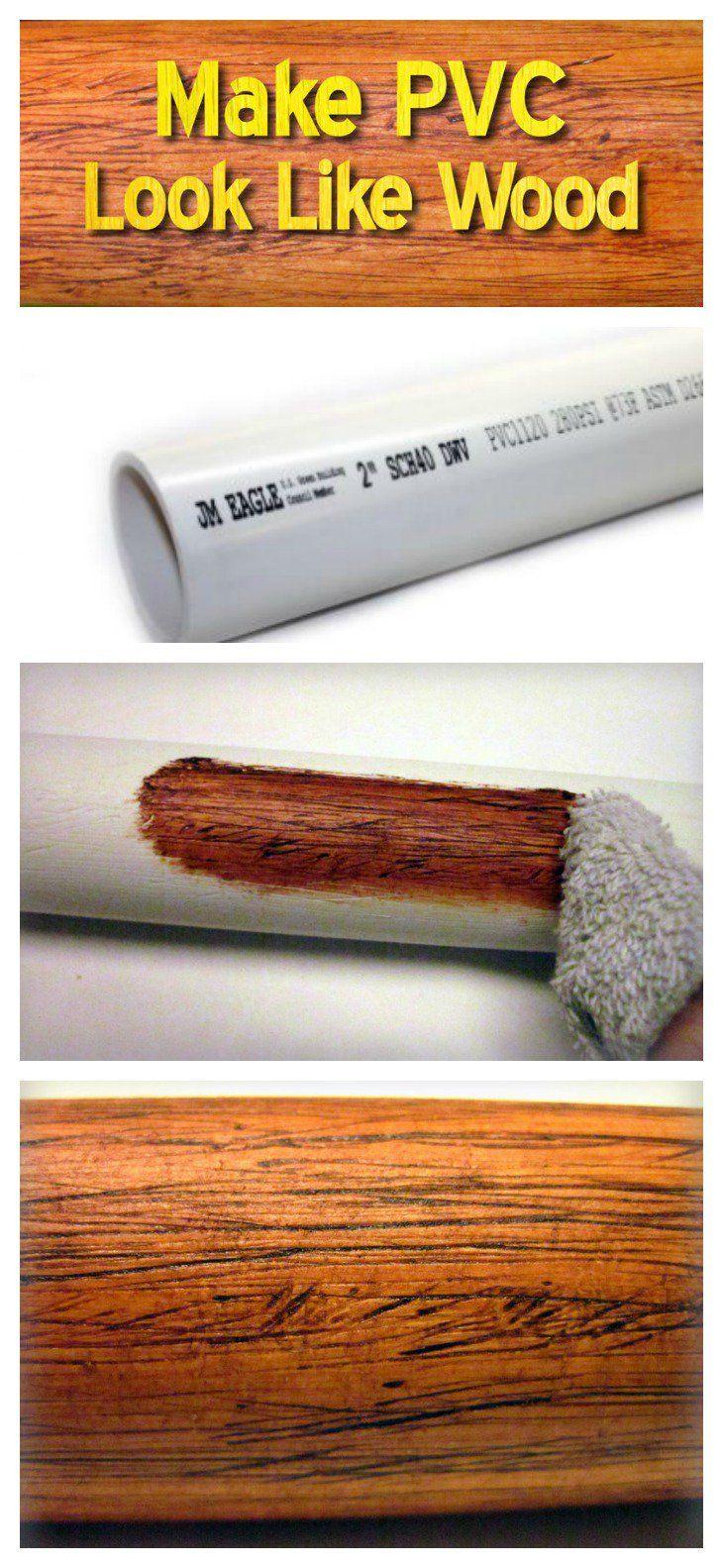 Eine Genius-Idee, um PVC wie Holz aussehen zu lassen