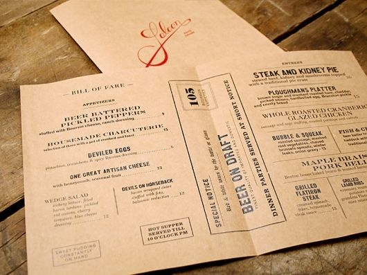 typography } brown card stock