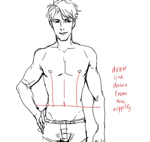 how to draw anime abs