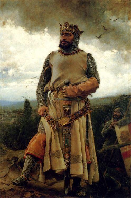 Portrait of Alfonso I de Aragon - Francisco Pradilla Ortiz 1879