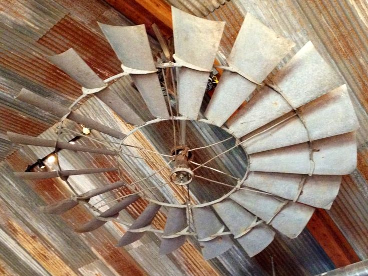 Now That S A Ceiling Fan Old Windmill Recycled As Working