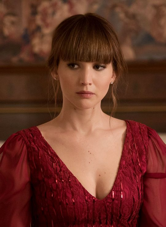 Jennifer Lawrence in Red Sparrow (2018).