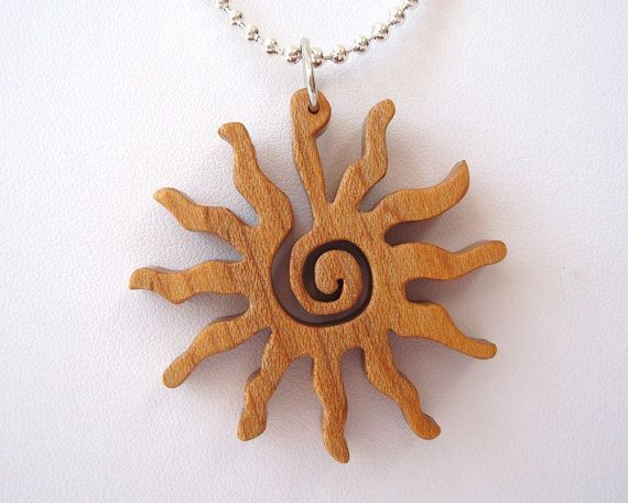 Cute wooden pendant.