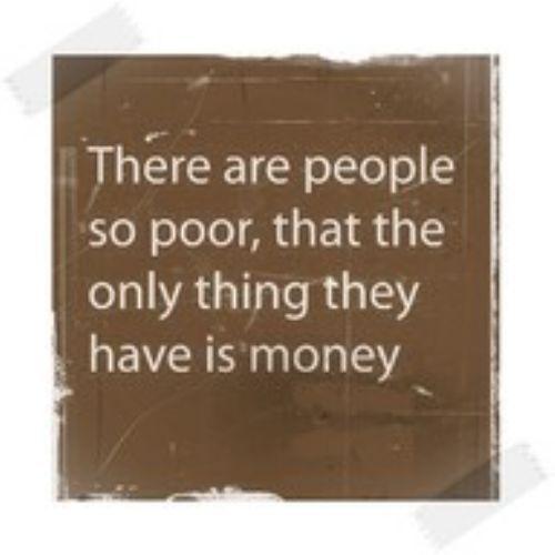 money isn't everything. .