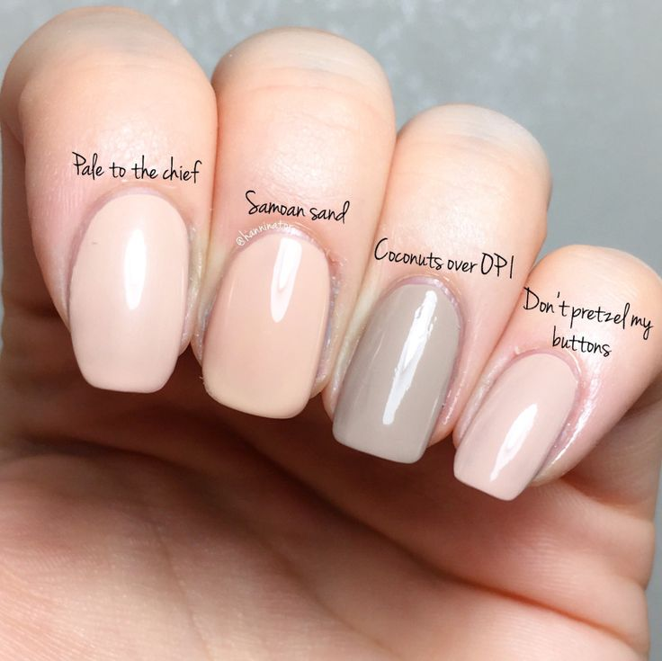 opi comparison Coconuts over OPI – Don't pretzel my buttons – Samoan sand – Pale to the chief