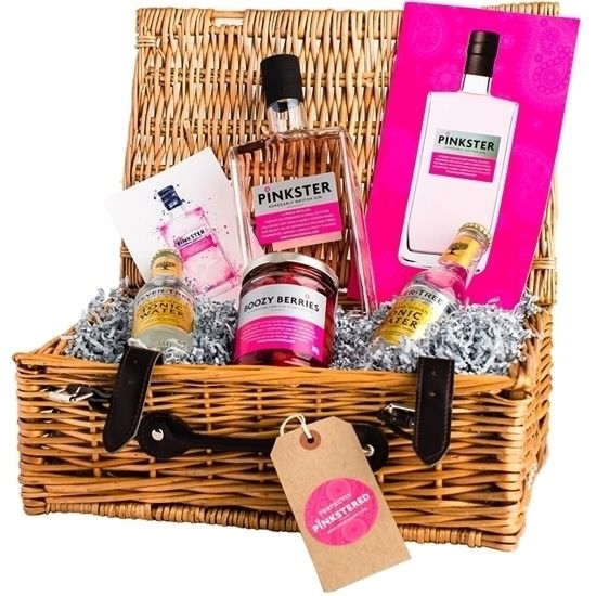 Pinkster Gin and Goodies Hamper. Introducing the perfect Pinkster wicker hamper containing a bottle of gin, a jar of our scrummy Gin Jam and two Fever-Tree tonics. Surely the ideal present for the gin lover in your life? #pinkstergin #ginspiration #gin