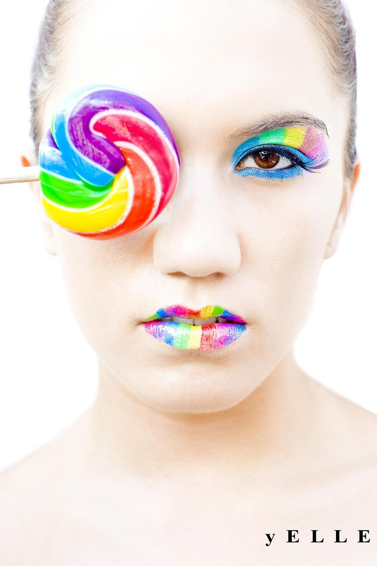 The Day it Rained Skittles  Body art makeup. yELLE Styling