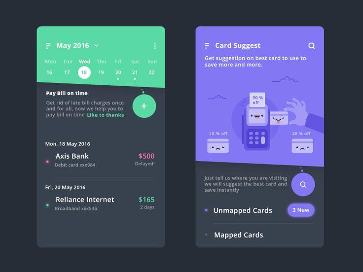 (via 3.Calendar  Saving (Finance app) by Prakhar Neel Sharma - Dribbble)