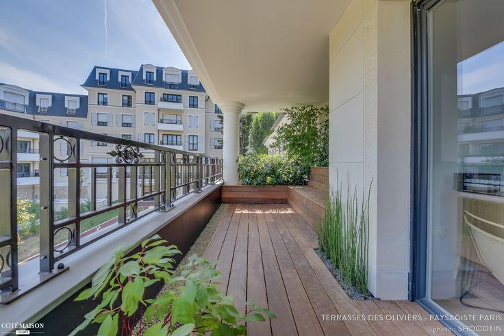 Terrasse de 18 m2 à Saint-Cyr-l'École, Saint-Cyr-l'École, Terrasses des Oliviers - Paysagiste Paris - paysagiste