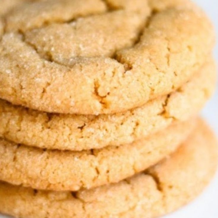 Soft and Chewy Peanut Butter cookies **note** flatten cookie with fork before baking**