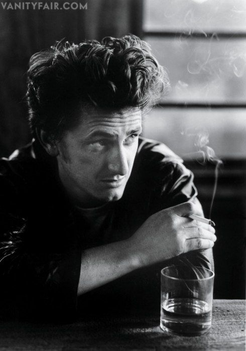 In one of his hotter moments, ciggie aside, I can't decide if Sean Penn of 1995 is trying to be James Dean, Jack Nicholson or Andrew Garfield in this pic.  Photos: The 2013 Hollywood Portfolio | Vanity Fair