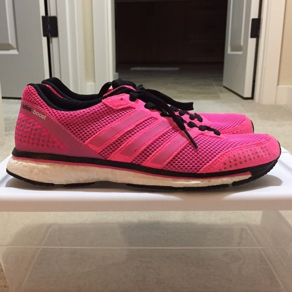 adidas boost running shoes 7 - HOT! adidas boost running shoes. Hot pink in a size 7. Color and style is rare. Still in great condition. No box. Nike Shoes Athletic Shoes