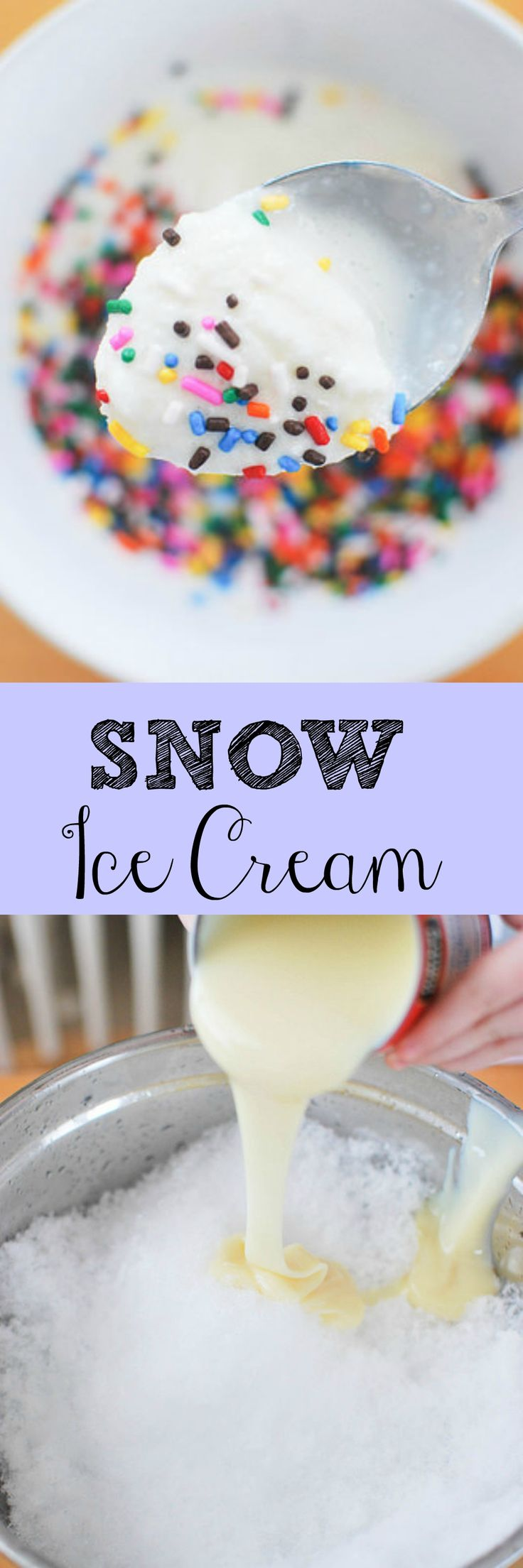 Snow Ice Cream - Stick a bowl outside before a big snow so you can make snow ice cream! So easy - the perfect project for kids!