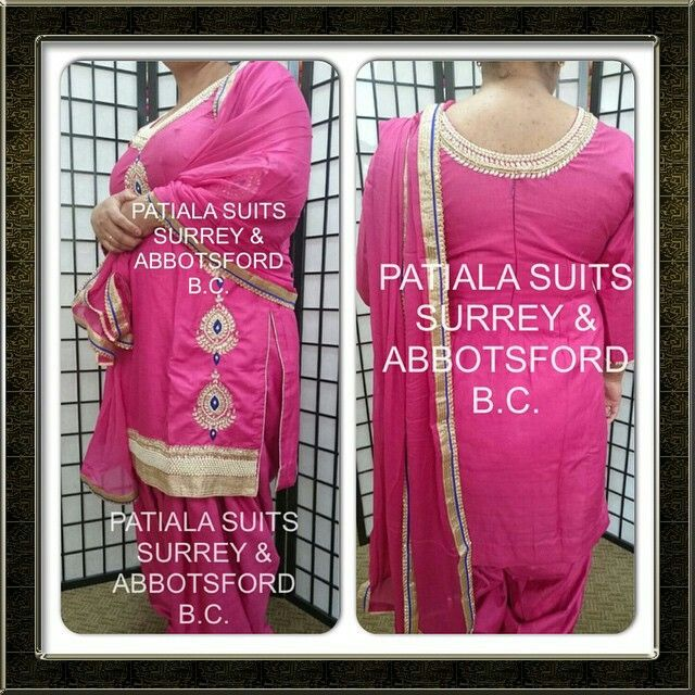 We are providing a qualitative variety of shantoon fabric This all over beautiful pink punjabi suit is made of silk shantoon fabric that comes with a 3 1/2 meters of full patiala salwar. It's chinnon dupatta has gold and blue borders around it! Please email us at patialasuits179@gmail.com or give us a call at 1(604)-780-8190 for pricing inquiries  #partywear #patialasuits #punjabisuits #punjabiculture #patialashahisuits #suitswag #salwarkameez #fashionlove #indianculture #indianfashion…