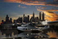 Aircraft Art: 24 x 36 Martin M-130 Pan American Clipper Flying Boat, by Ron Cole - For sale on eBay