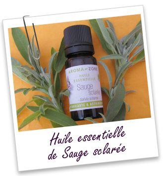 Huile essentielle Sauge sclarée Aroma-Zone Cette huile est connue pour ses effets régulateurs sur les problèmes menstruels et la ménopause, la transpiration. Elle est réputée pour favoriser la pousse des cheveux et a aussi un effet positif sur les cheveux gras et les pellicules.