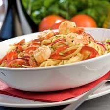 Recette Linguine aux crevettes et au pesto de tomates séchées - Coup de Pouce