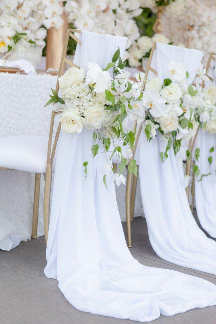 quel type de décoration pour les chaises de mariage