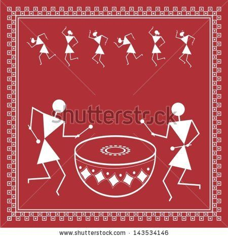 Indian tribal Painting. Warli Painting by nisha_images, via Shutterstock