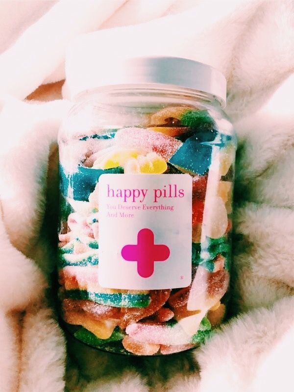Happy Pills Jar Of Candy Diy Gift Present Ideas Cute