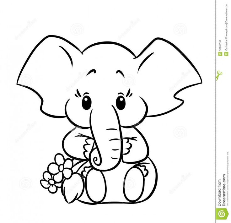 easy baby elephant drawing - Google Search