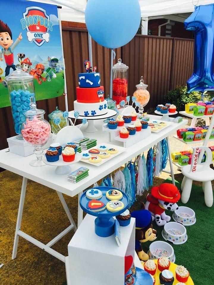 Little Wish Parties | Paw Patrol First Birthday | https://littlewishparties.com